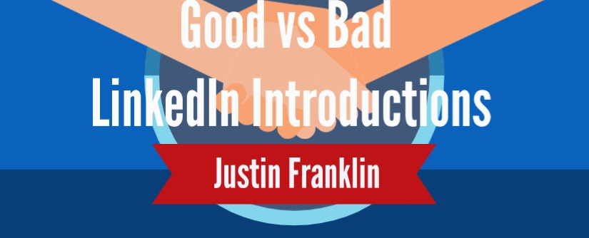 Good vs Bad LinkedIn Introductions hand shakes