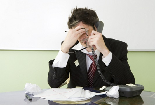 cold calling sucks frustrated sales person
