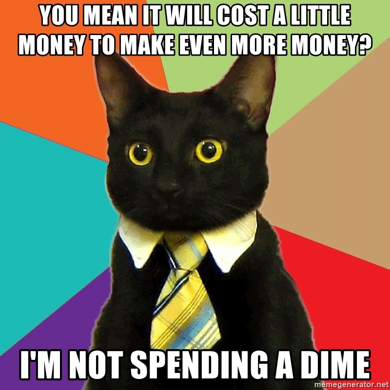 i'm not spending money on a website cat