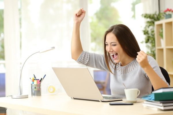 website success woman tro lead generation